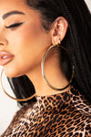 Gold Solid Oversized Hoop Earrings