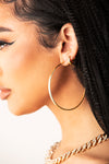 Gold Basic Hoops Earring