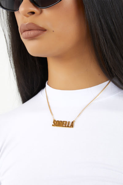 Sorella Nameplate Necklace