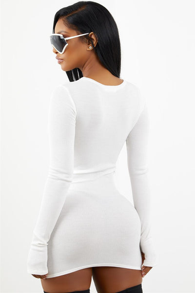 Sorella White Thermal Dress