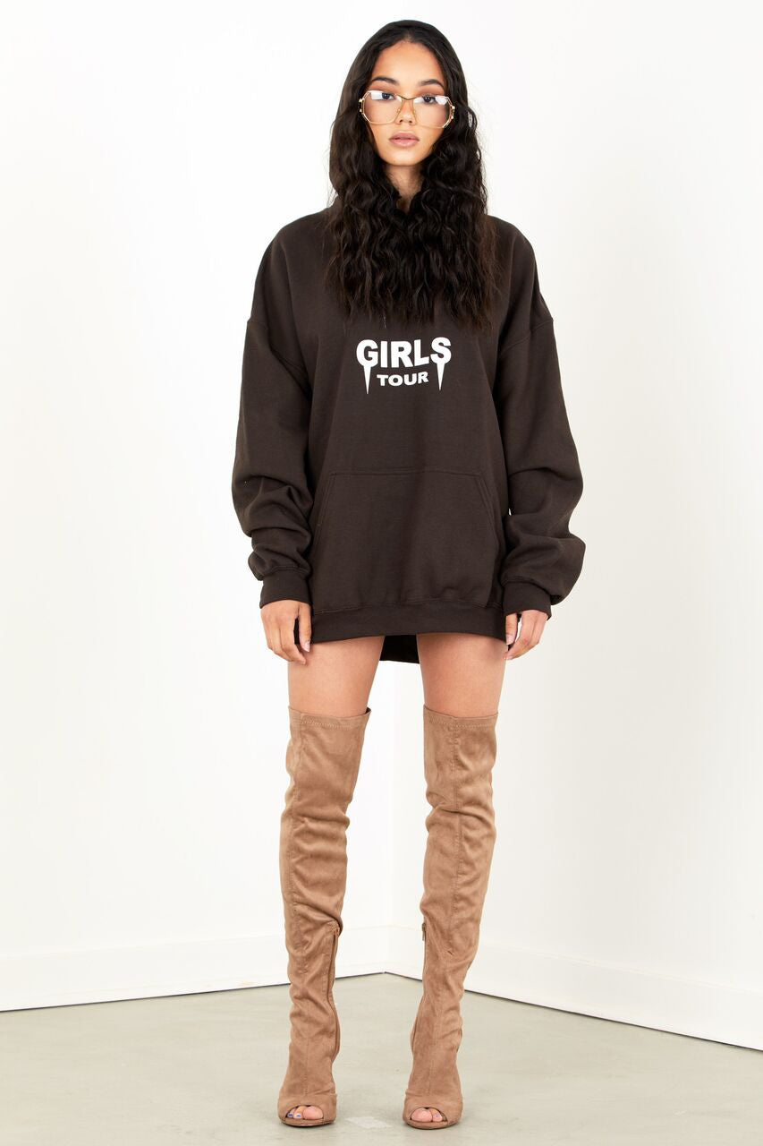Girls Tour Hoodie Brown