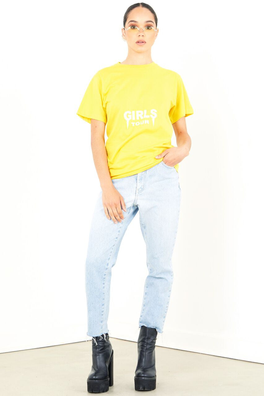 Girls Tour Tee Yellow