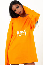 Girls Tour Long Sleeve Tee Orange