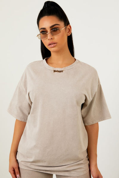 Sorella Tan Acid Wash Tee
