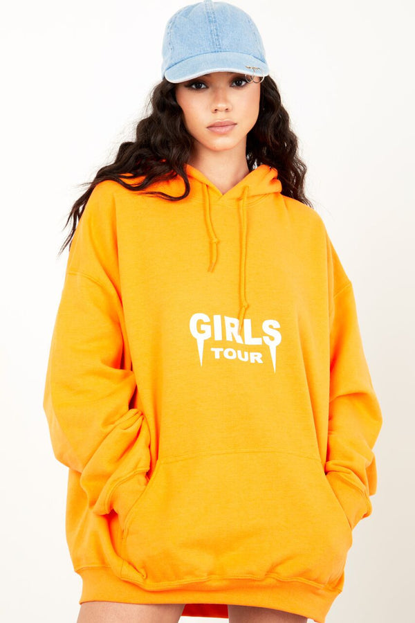 Girls Tour Hoodie Orange