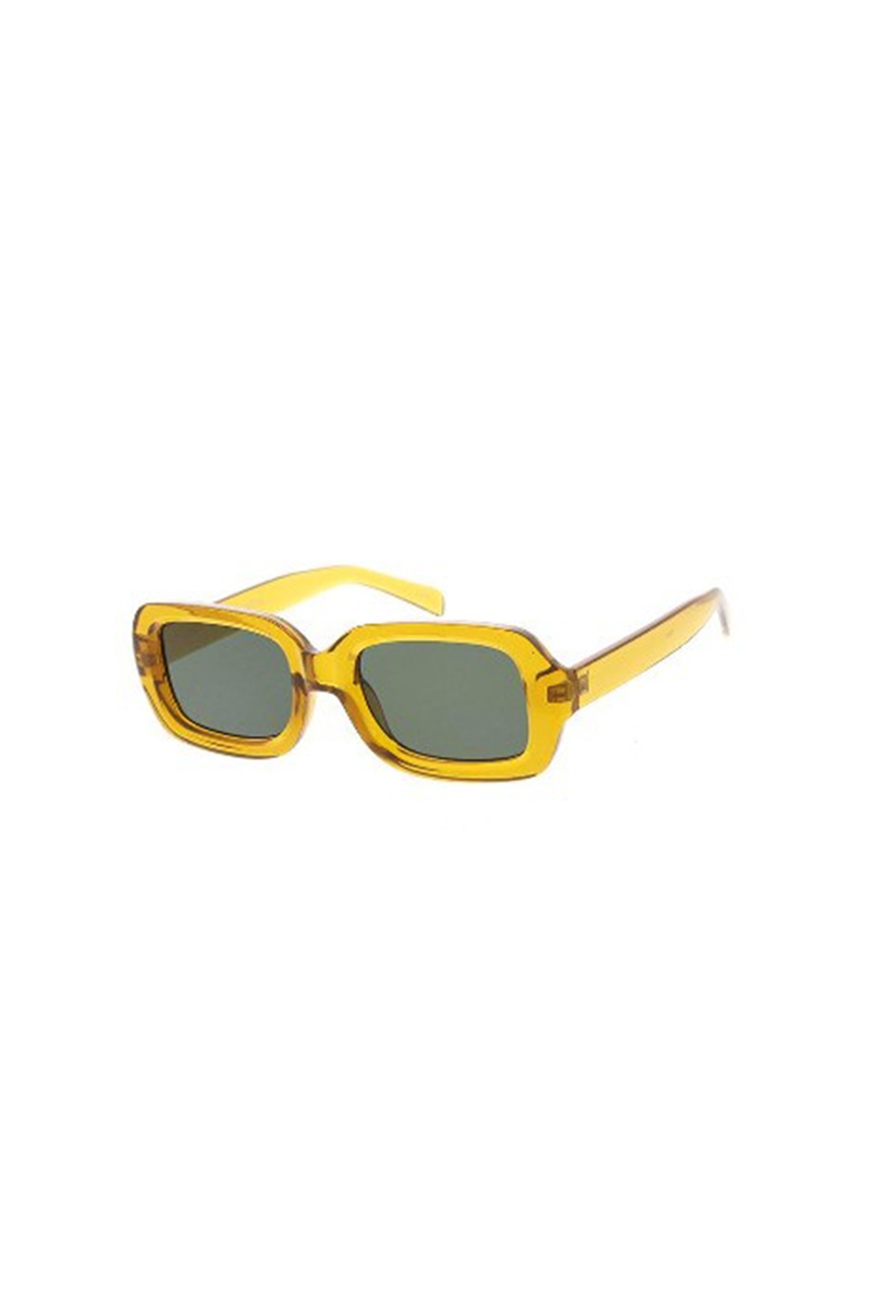 Yellow Chunky Rectangular Sunglasses