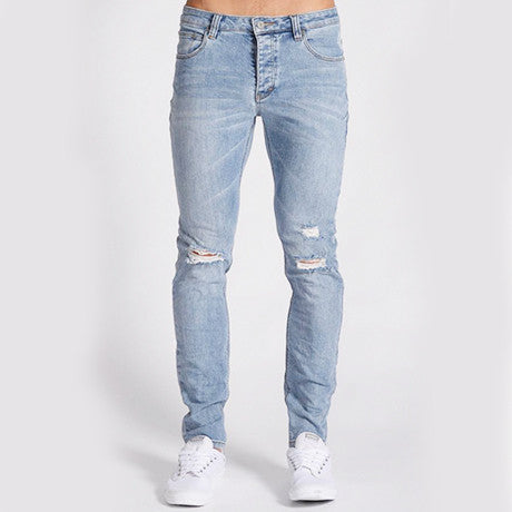 A DROPPED SLIM JEAN