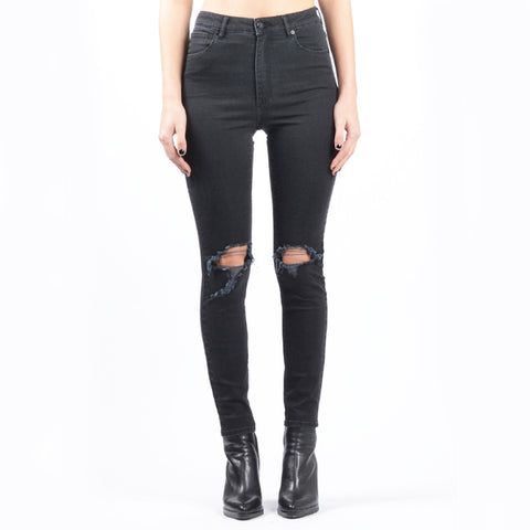 A HIGH SKINNY ANKLE BASHER Black