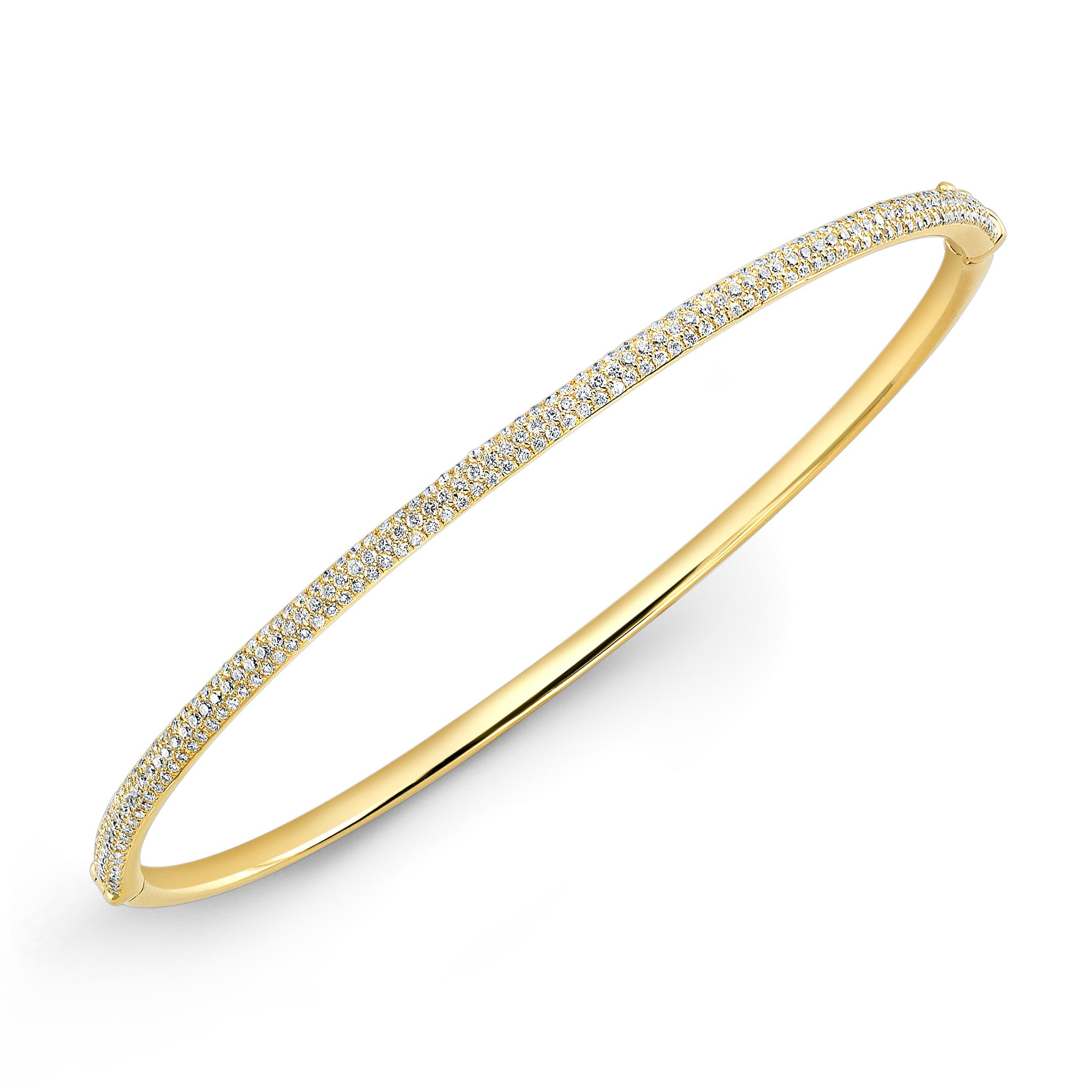 diamond round vintage pave bangles estate in bracelet img gold bangle white