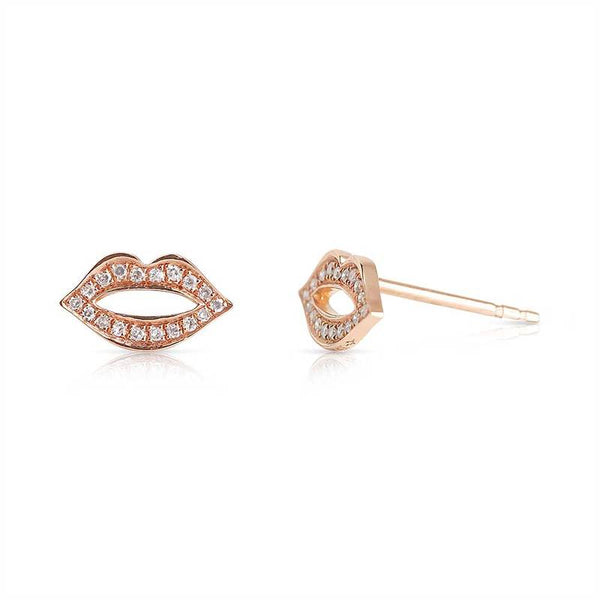 Read My Lips Diamond Earrings