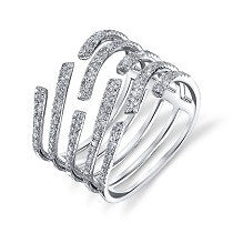 The Diamond Pave Wave Ring