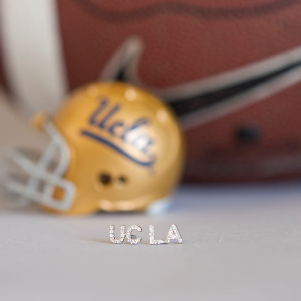 UCLA Diamond Stud Earrings