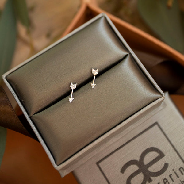 Diamond Arrow Studs