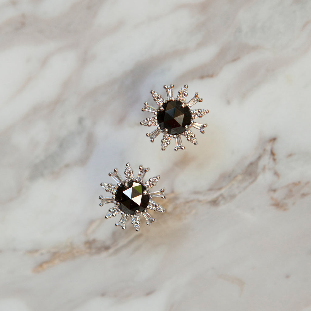 Black Diamond Supernova Stud Earrings