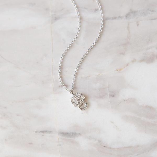 Diamond Pave Skull Necklace