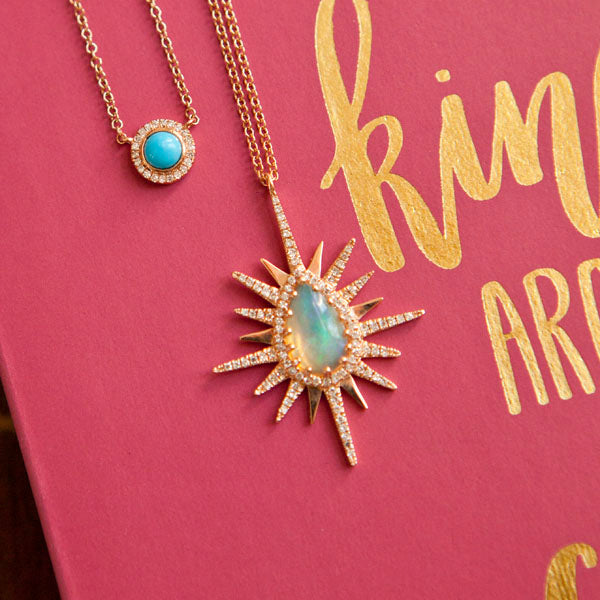 Opal Sunburst Necklace