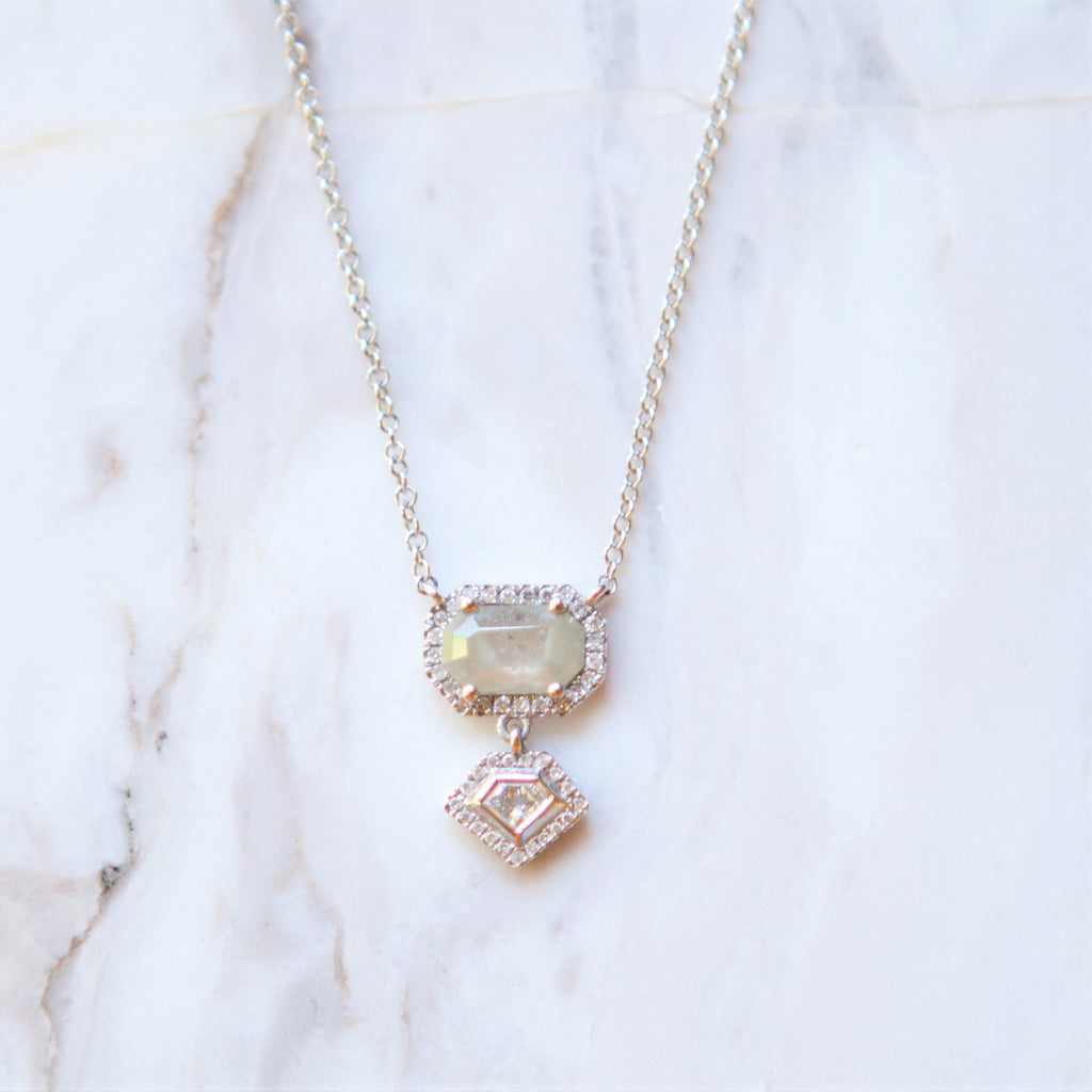 Bespoke Deco Diamond Slice Necklace