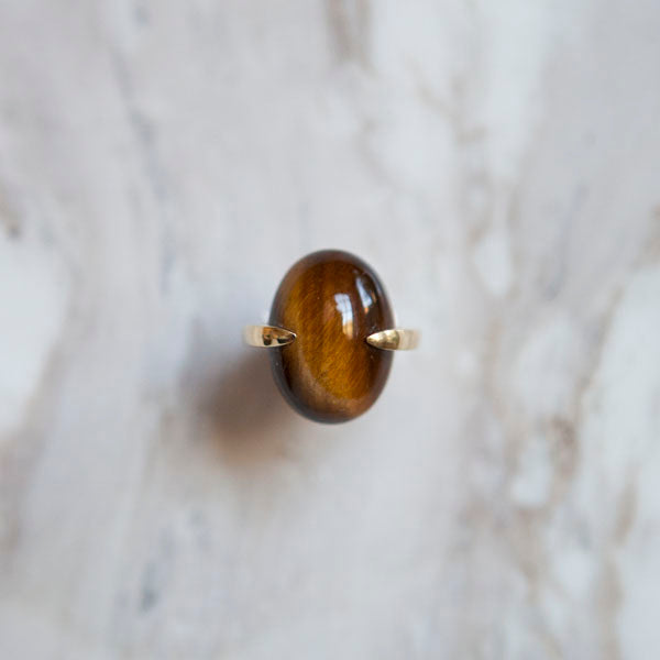 Architectural Tigers Eye Ring