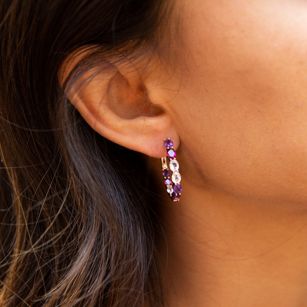 Purple Reign Oval Hoops