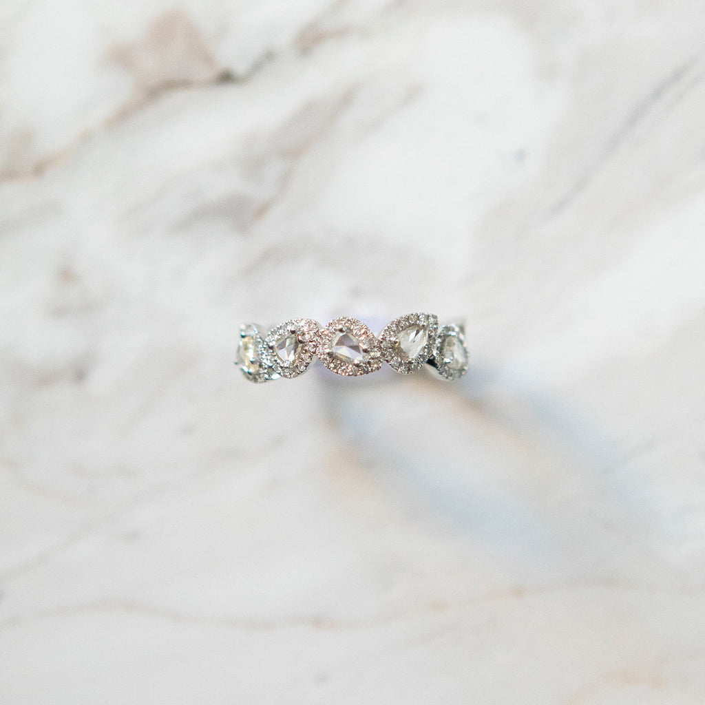 Rosecut Diamond Stacking Band