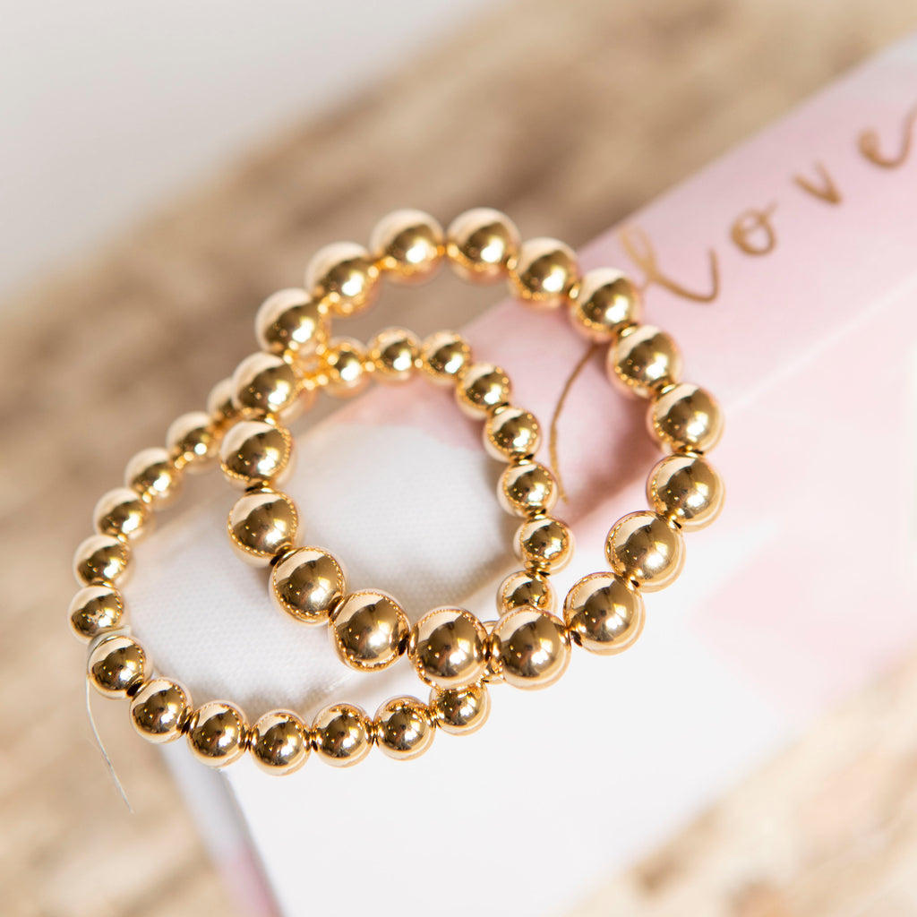 8 mm Gold Ball Bracelet