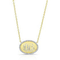 Bespoke Initial Necklace in Matte Gold with Diamonds