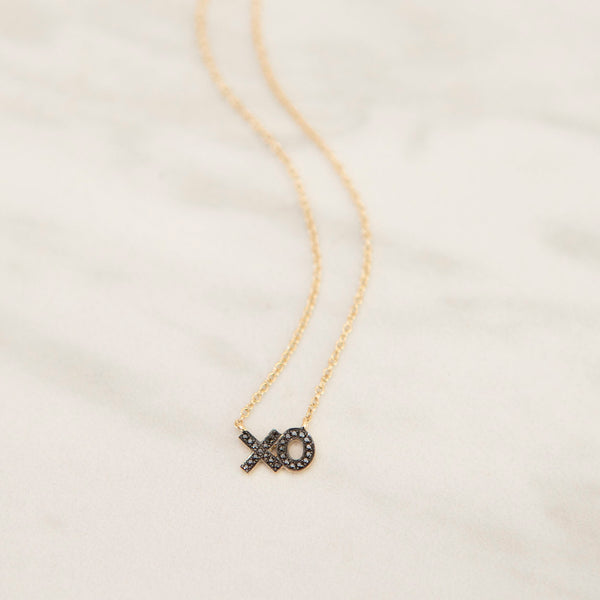 XO Black Diamond Necklace