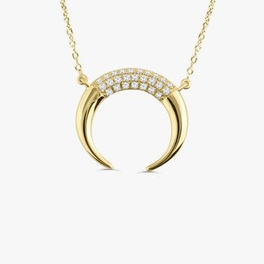 Diamond Horn Necklace