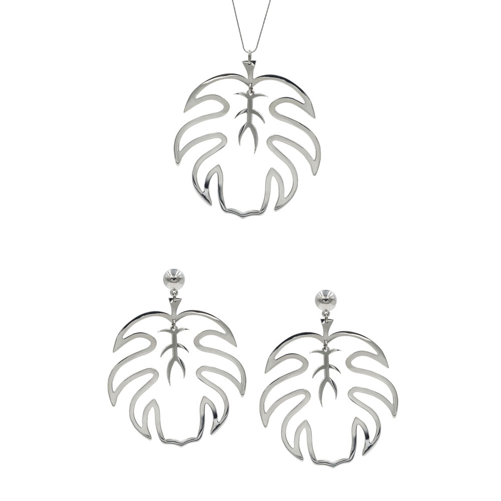 TROPICAL LEAVES Look pieces DoMo Jewelry