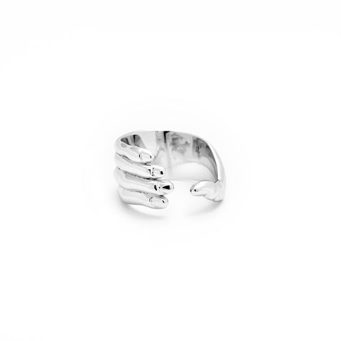 Hold My Hand Ring - Side View - DoMo Jewelry