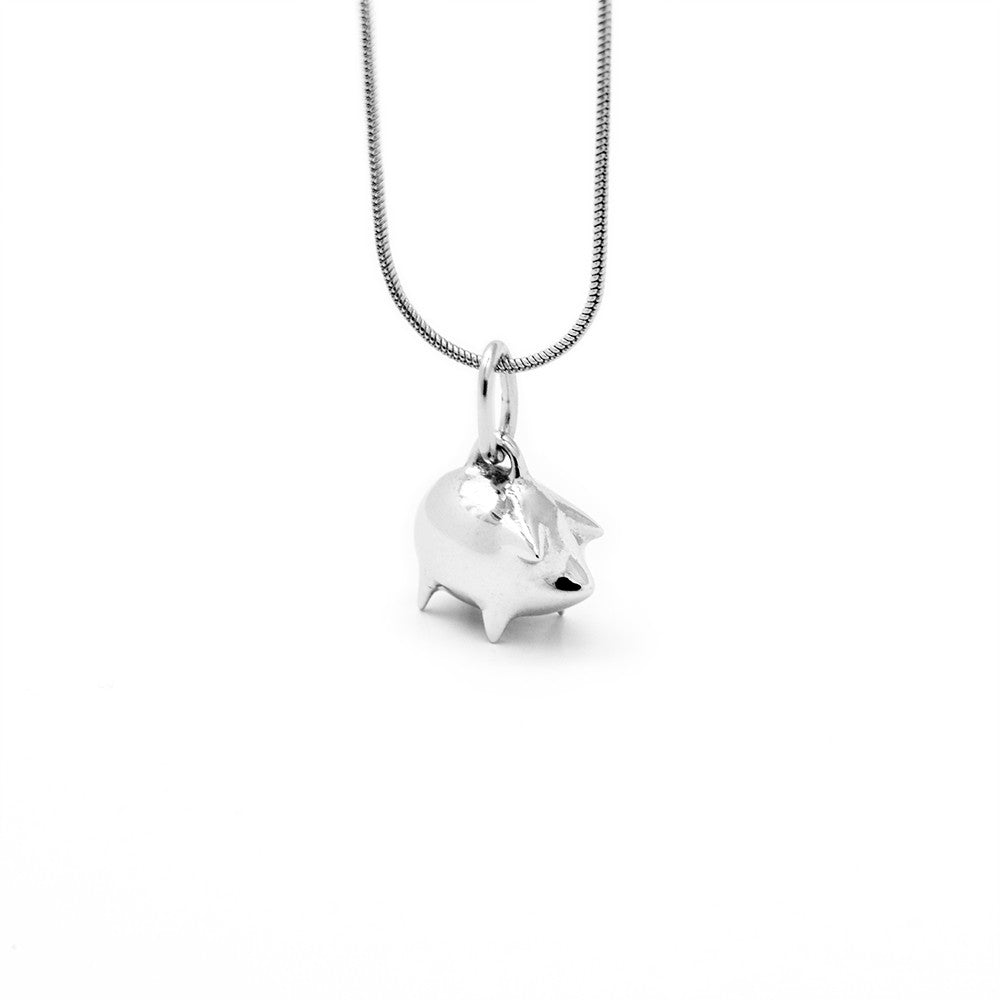 Piggy Bank Necklace - Isometric View - DoMo Jewelry