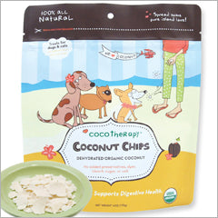 CocoTherapy Coconut Chips for dogs