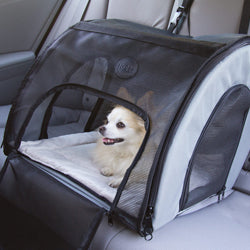 Chihuahua in Dog Car Safety Carrier by K&H Mfg