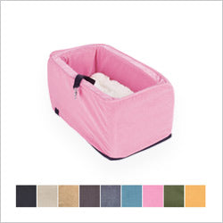 Pink Small dog Microsuede Console Dog Car Seat