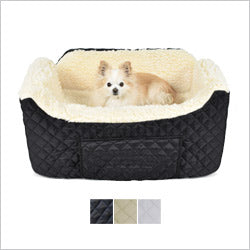 Large Black Quilted Lookout Dog Car Seat