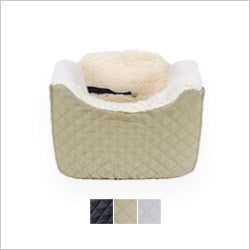 Khaki Quilted Medium Lookout Dog Car Seat