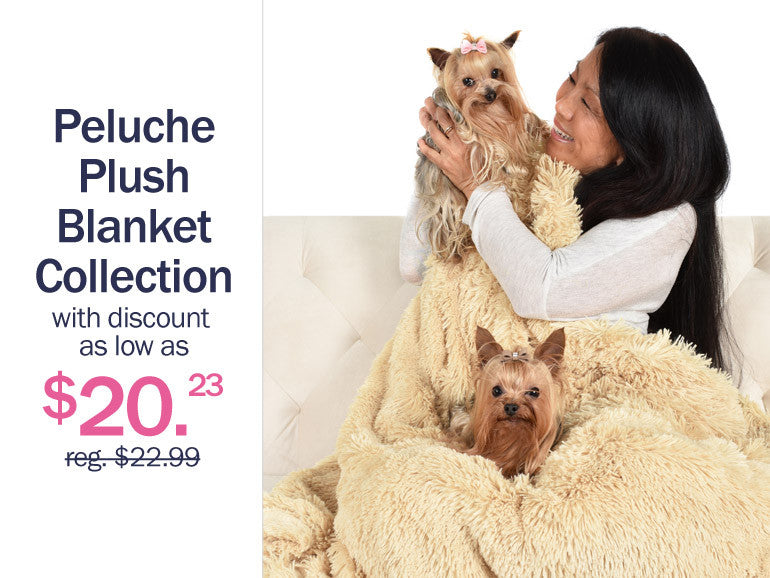 Peluche Plush Dog Blankets