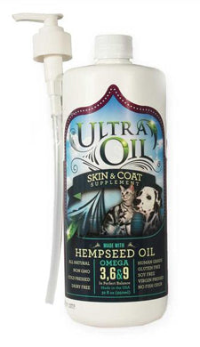 Ultra Oil Skin & Coat Supplement for Dogs and Cats