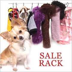 Chihuahua shopping sale rack