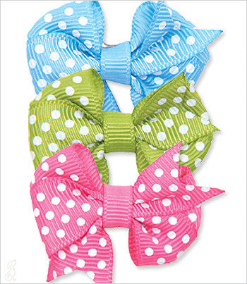 Fishtail Polka-Dot Bow Barrette