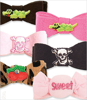 Ultrasuede Adorned Bows
