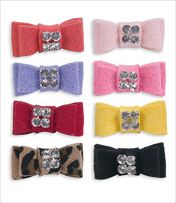 Susan Lanci Teenie Ultrasuede Hair Bows