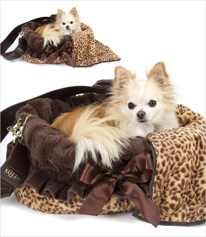 Cheetah Snuggle Bug Dog Carrier