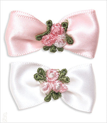 Satin Floral Bow Barrette
