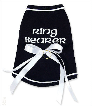 Ring Bearer Shirt - Black and White