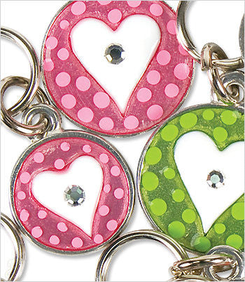 Dog ID Tag with heart and polka dot