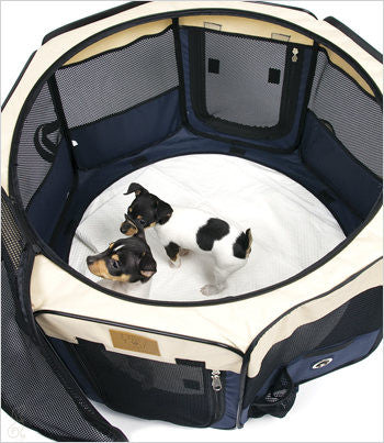 soft sided playpen top view