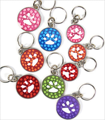 Polka Dot Paw Dog ID Tag