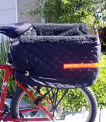 Pet Rider Bicycle Seat shown on bike