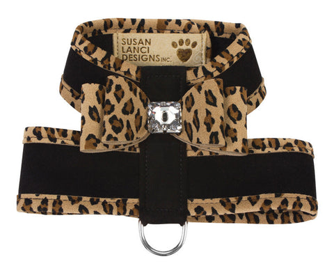 Tinkies Big Bow Two-Tone Black-Cheetah